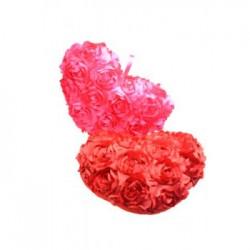 Perna inima cu trandafiri din saten - 35 cm
