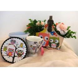 """Geanta """" cos"""" cu flori + cana + cutie depozitare"""